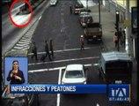 Peatones imprudentes son captados por las cámaras de la AMT