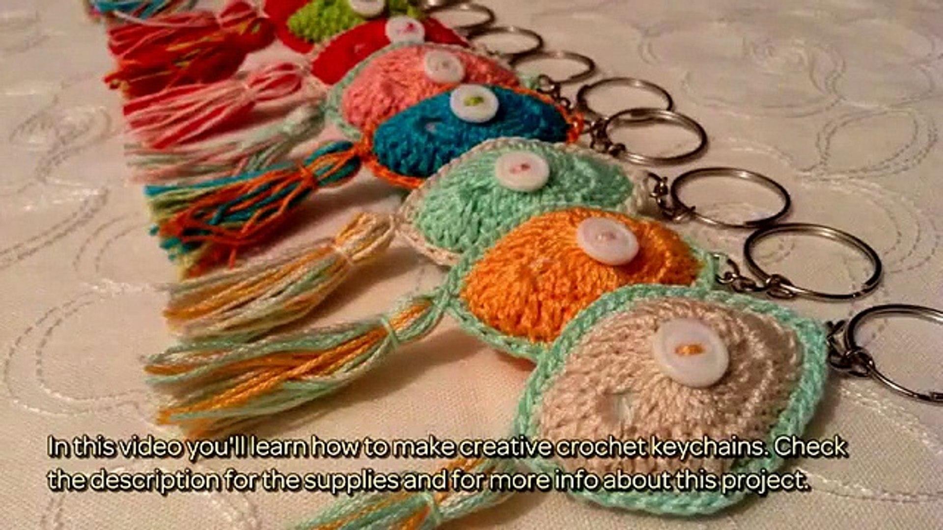 Crochet Amigurumi watermelon keychain/ How to do watermelon in ... | 1080x1920