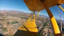 GoPro Naval Aircraft Factory N3N-3 Biplane Flabob Airport 2014 Veterans Day Celebration