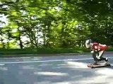 Downhill Skateboard Speed Demon skateboarding down SFU hill