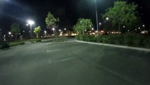Immersion Vortex racing drone FPV at a parking lot
