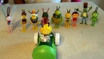 Maya the bee all characters based on 3d cartoon playset maia de Bij, Ape maia, Pcelica maja