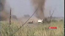 Powerfull IED Roadside Bomb Sends M1 Abrams Tank Flying In Iraq