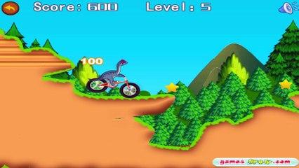 Gry Dla Dzieci- Dinozaur Na Rowerze- GRAJ Z NAMI