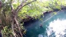 """Plongée """"Cenotes Angelita"""" Rivière de sulfure d'hydrogène à 30m de profondeur"""