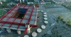 san siro stadium, milan from higt view