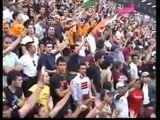milan-Roma 2003 finale coppa italia(TIFO E INCIDENTI IN CURVA DELLA ROMA) curva sud roma
