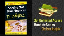 Sorting Out Your Finances For Dummies PDF