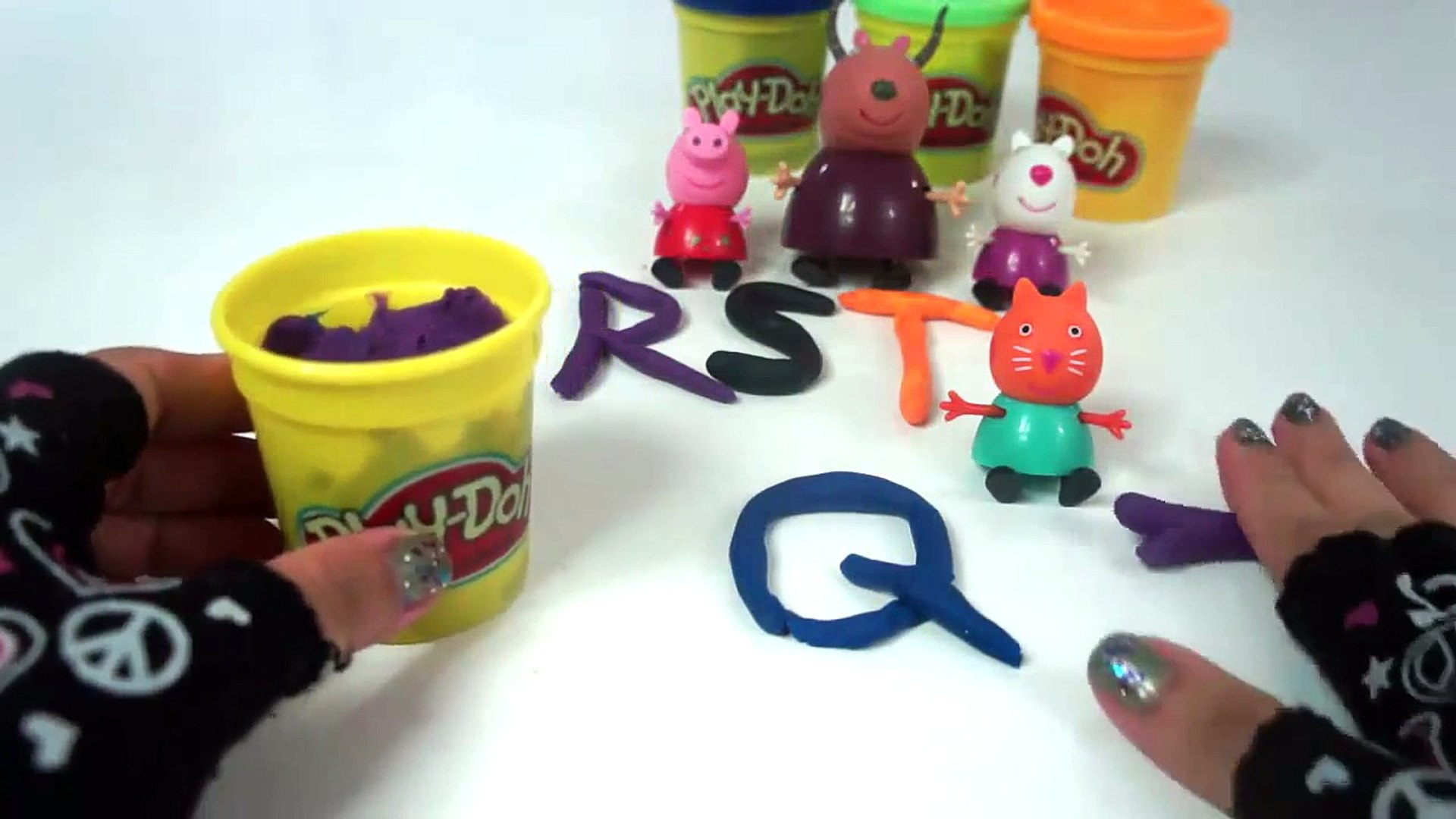 Learn Your Letters with Peppa Pig and Friends!! Letters P-T in Upper & Lower Case out of Play-Do