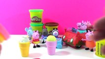 Peppa Pig s Fisher Price Muddy Puddle Car making Play Doh ice cream