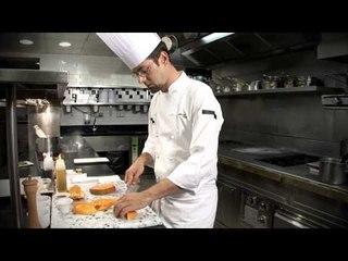 Croustillant d'églefin au basilic et vinaigrette à la mangue - Mickaël Féval