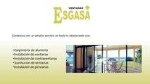 Ventanas Esgasa -Carpintería de aluminio Pamplona - Instalación de ventanas sin obra