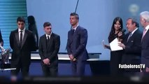 Luis Suarez Reaction After Messi wins UEFA Best Player in Europe 2015