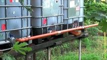 Recupero acqua piovana, impianto di irrigazione manuale con cisterne di recupero