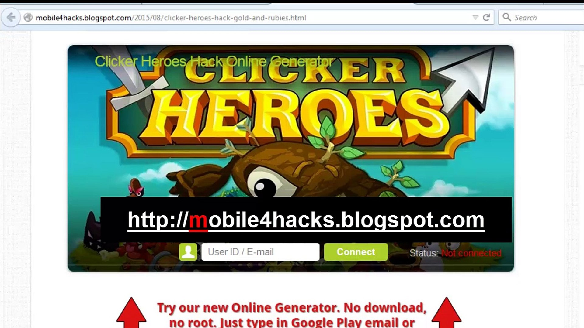Tutorial Clicker Heroes how to hack gold and rubies cheat