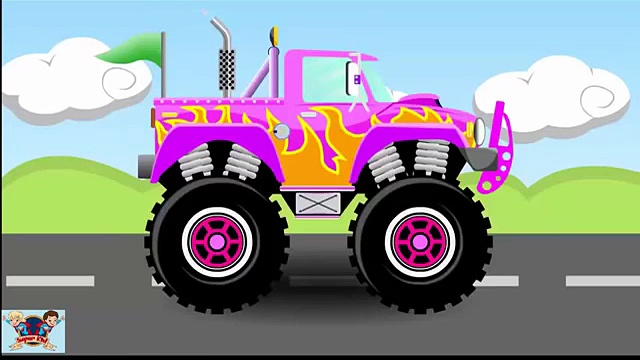 Monster Trucks   Trucks for children kids  Trucks for kids   Kid TV