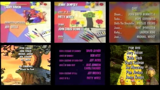 Barney Sesame Street And Winnie The Pooh Remix Credits