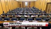 N. Korean leader fires military aides