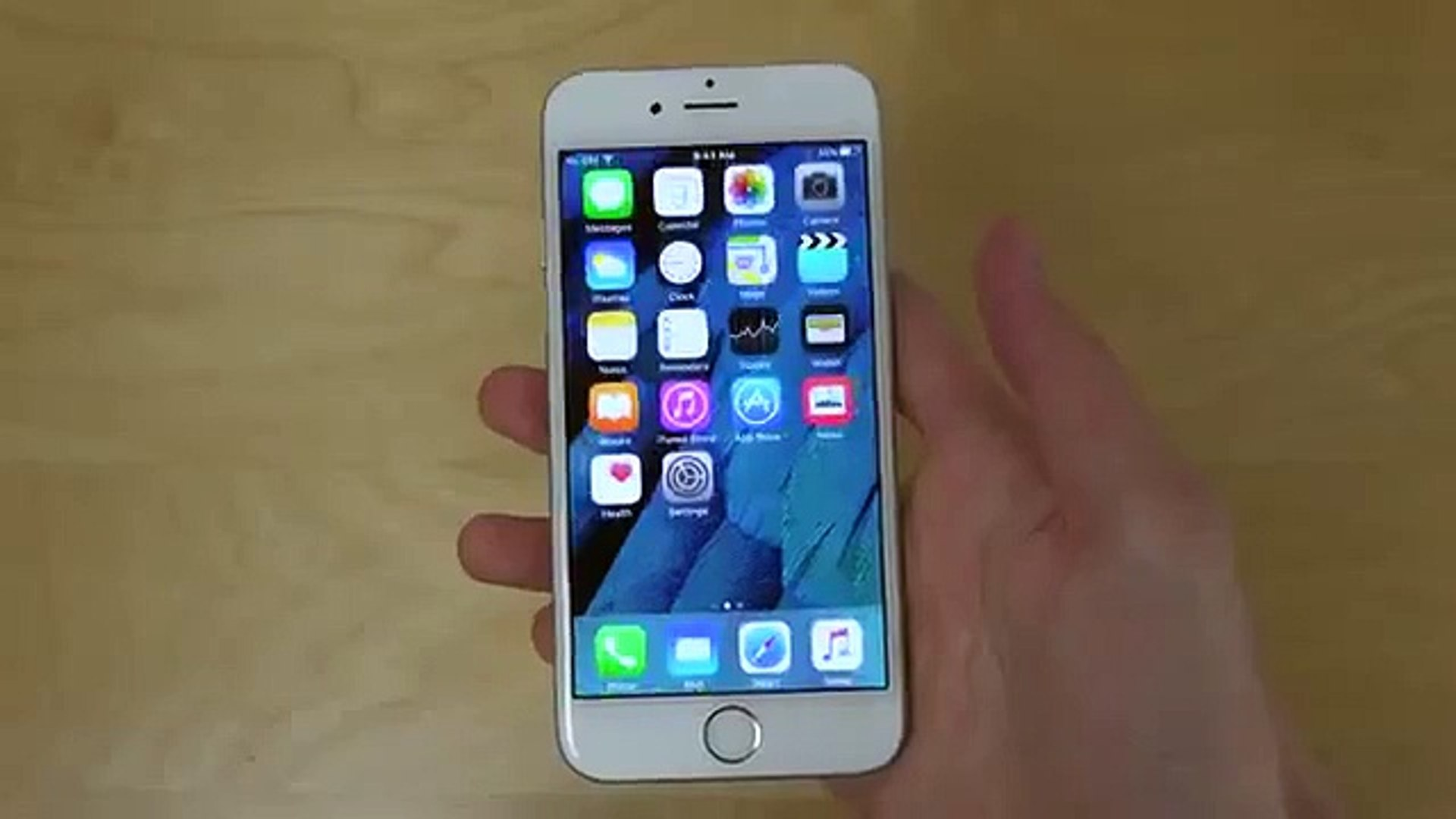 iPhone 6 iOS 9 Beta 5 New Wallpapers First Look! - video dailymotion