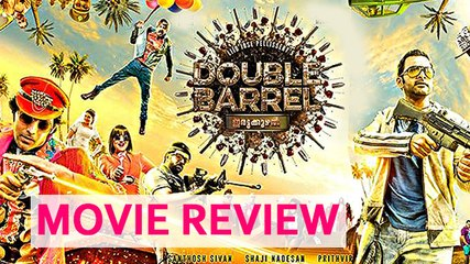 'Double Barrel' Movie Review | Prithviraj | Indrajith | #LehrenTurns29