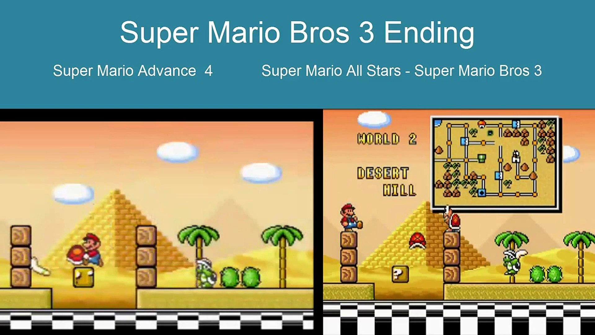 Super Mario Bros 3 Ending Comparison Snes Vs Gba Video Dailymotion