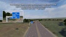 M25 J23-27 drive-through simulation - all lane running