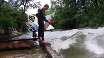 River Surfing - Surfing a standing wave on the Eisbach