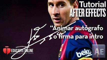 Animar autografo de Leo Messi para crear intro - Tutorial After Effects