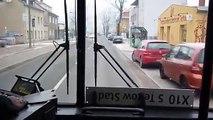Fahrt im BCT-Doppeldecker B-J 3577 auf der BVG-Linie X10 von Teltow nach Berlin
