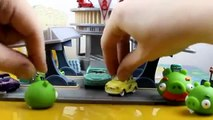 Disney Pixar Cars Flo's V8 Cafe gets taken over by the Angry Birds' Green Pigs!