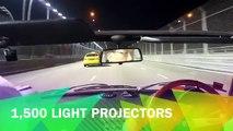 Singapore F1 Marina Bay street circuit night drive in a Alfa Romeo Spider