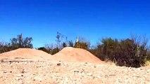 Bmx crash 360 over dirt jump