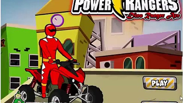 GAME SIÊU NHÂN GAO KHỦNG LONG ĐUA XE: Power Rangers Dino Red Atv