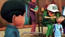 Burka avenger cartoons. Burka avenger giving message on polio vaccination.HD
