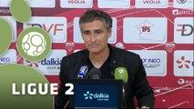 Conférence de presse Dijon FCO - US Créteil-Lusitanos (4-1) : Olivier DALL'OGLIO (DFCO) - Thierry FROGER (USCL) - 2015/2016