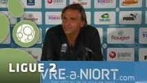 Conférence de presse Chamois Niortais - Stade Lavallois (0-1) : Régis BROUARD (CNFC) - Denis ZANKO (LAVAL) - 2015/2016