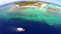 Surfing at Kandooma Resort, Maldives   HD surf footage by drone