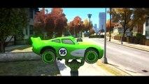 HULK SMASH CARS! Disney Cars Pixar Custom Lightning McQueen in Orange, Yellow, Green & Blue Colors!
