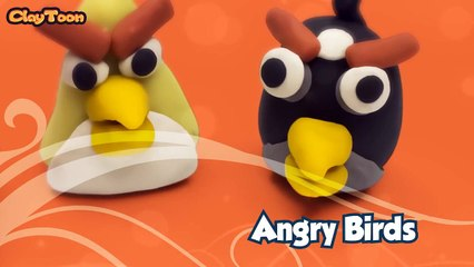 Angry birds 1 Red, Bomb and Chuck, Polymer clay tutoria