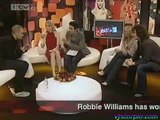 Robbie Williams Interview party on