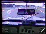 Track testing a racing Reliant Scimitar V6 Taupo New Zealand