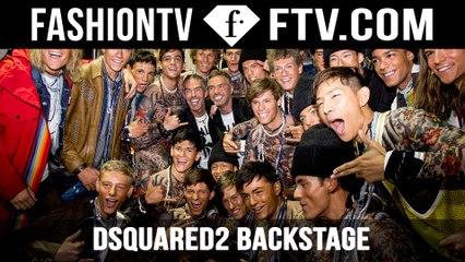 Backstage at Dsquared2 Milan | FTV.com