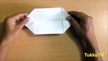 How to make origami Boat (canoe) - paper boat ?
