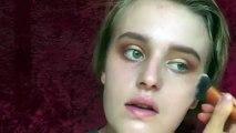 Makeup Tutorial: Golden soft halo eye look + berry lips