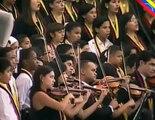 Orquesta Sinfónica Simón Bolívar interpretó el Himno Nacional en honor del Presidente Chávez