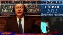 Fair Tax Reform System Explained - Gary Johnson Fair Tax Online Town Hall Q&A 11-11-11