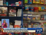 Miles de ecuatorianos realizan sus últimas compras en Colombia