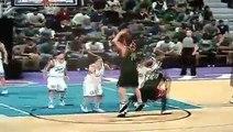 'NBA 2K11' '96 Sonics vs. '97 Jazz - 2K camera view (PlayStation 3)