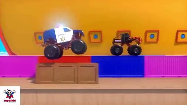 Monster trucks   Police trucks  Monster trucks for children   Trucks for children