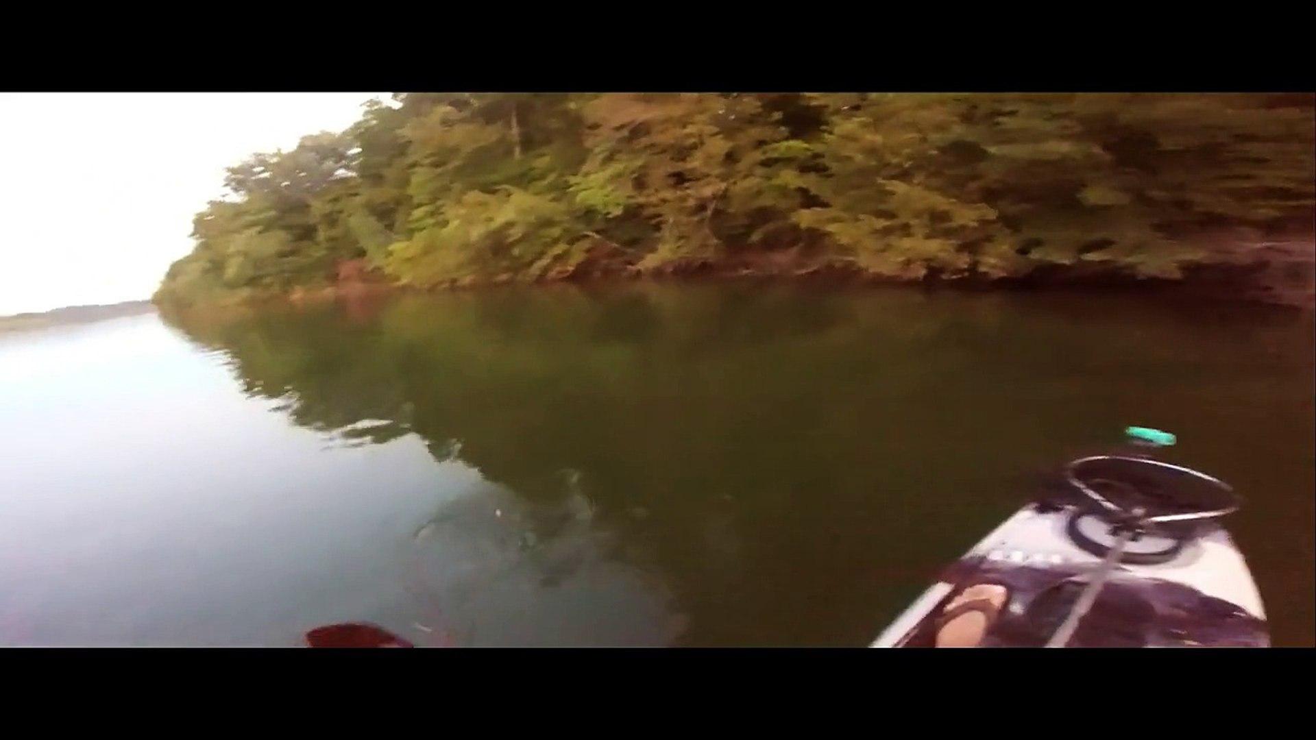 kayak bass fishing - Smallmouth bass - Tims Ford Lake TN